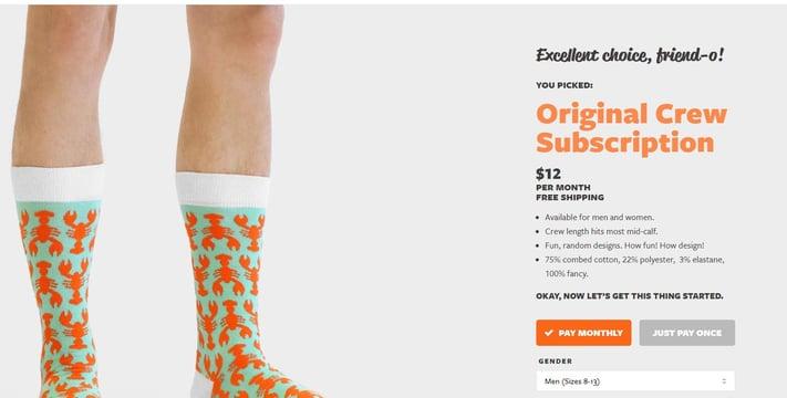 sock subscription orignal crew socks