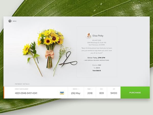 ecommerce checkout page design