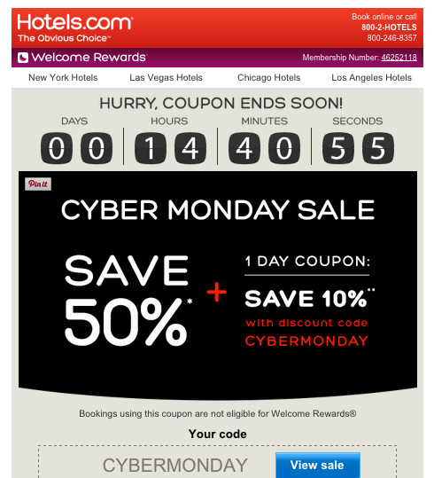 discount code email campaign