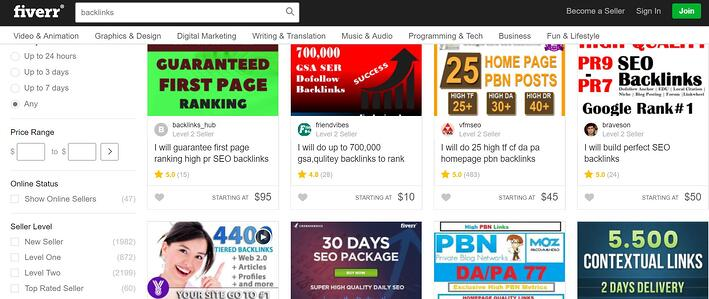 fiverr buyback links