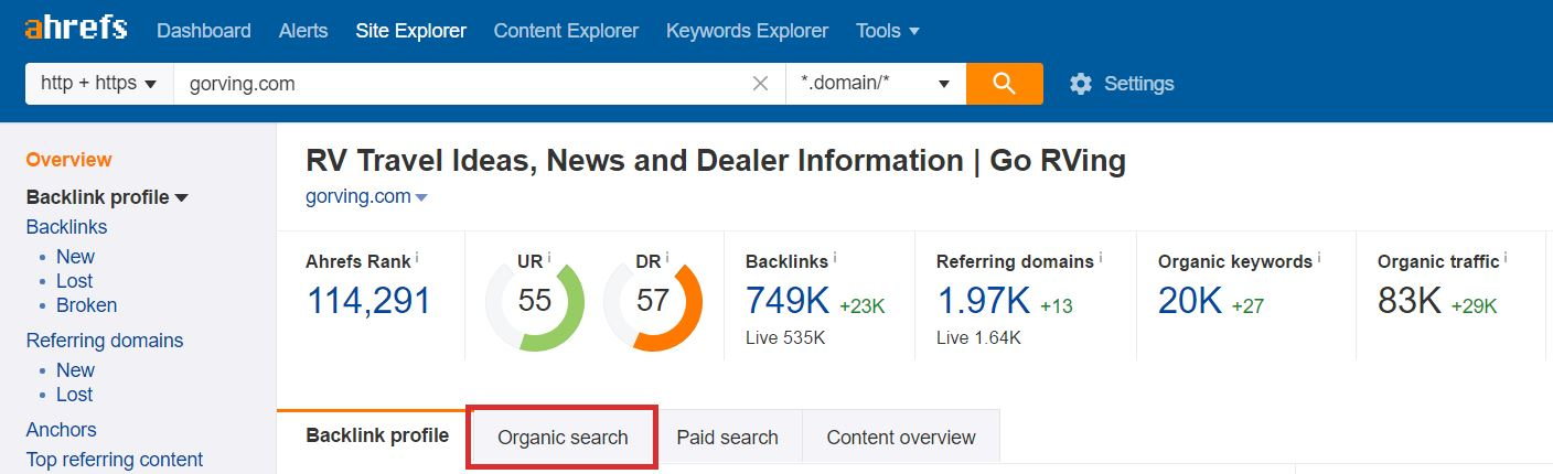 Ahrefs keyword research