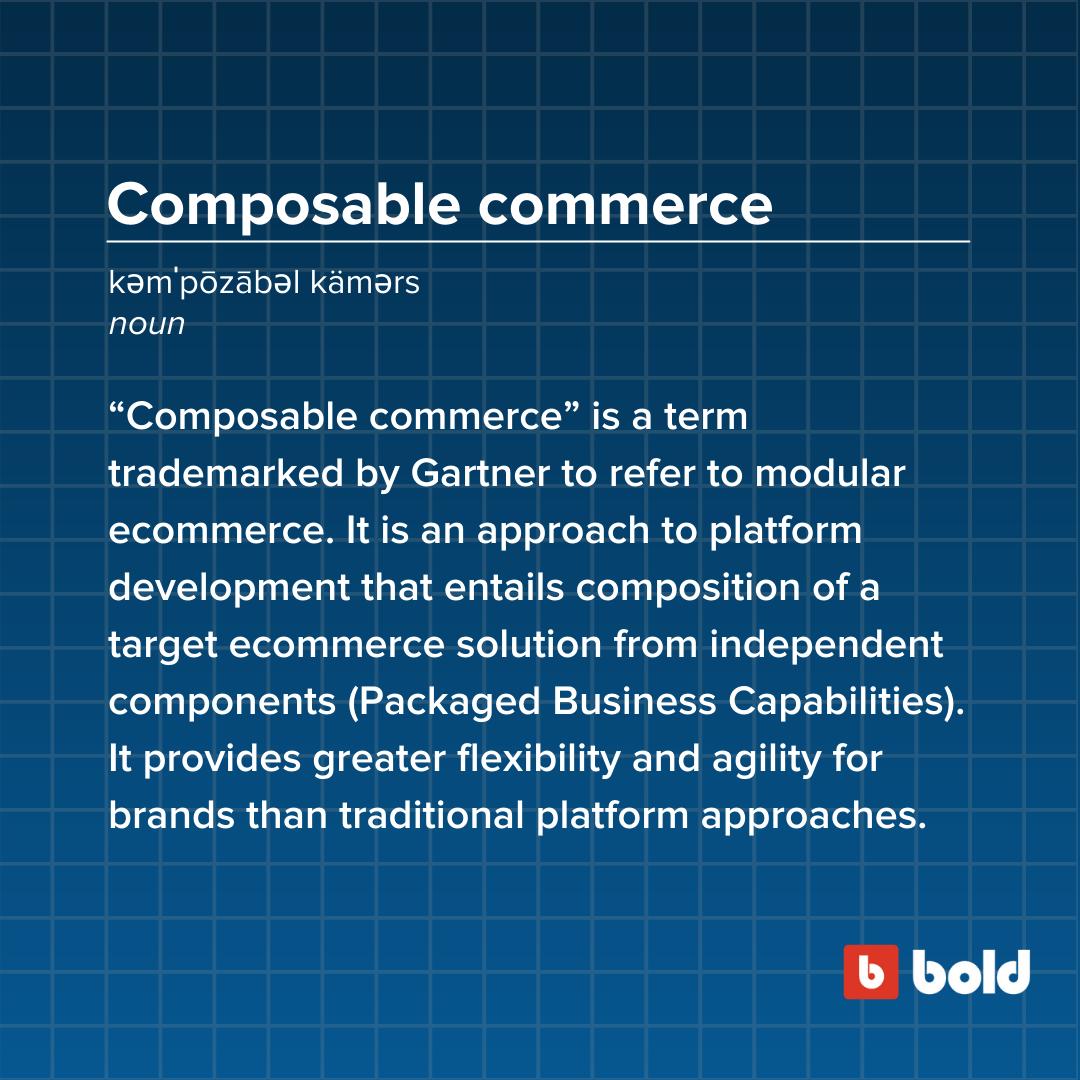 Composable commerce