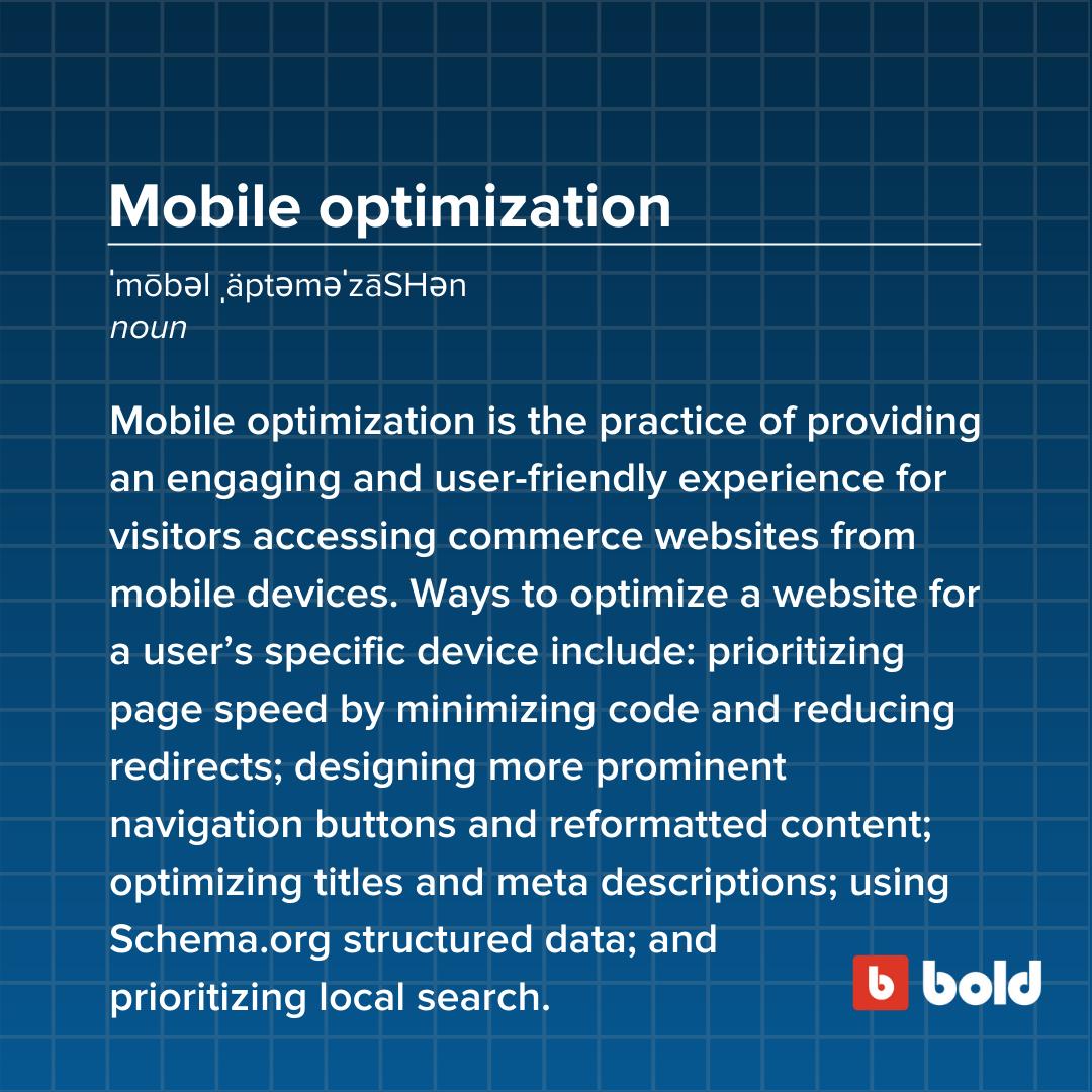 Mobile optimization