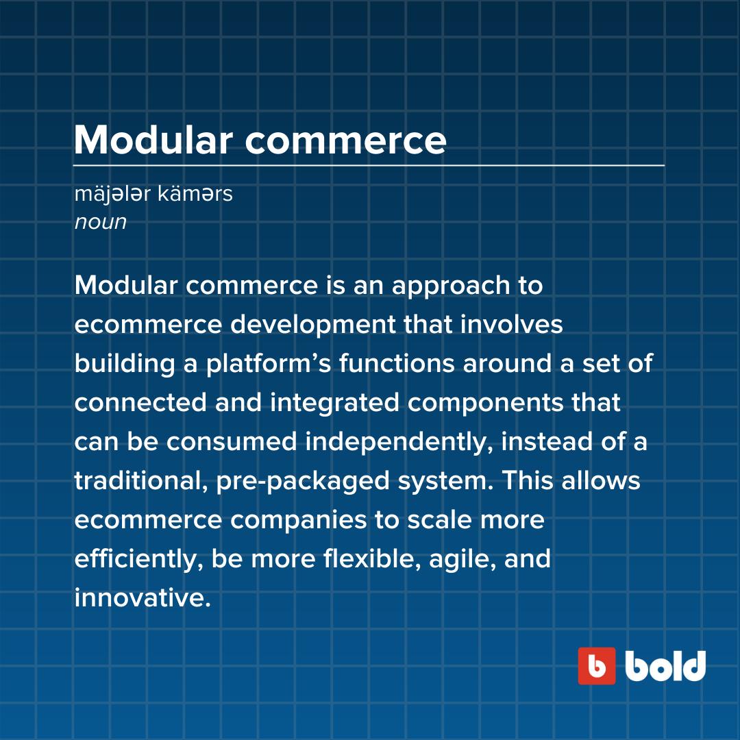 Modular commerce