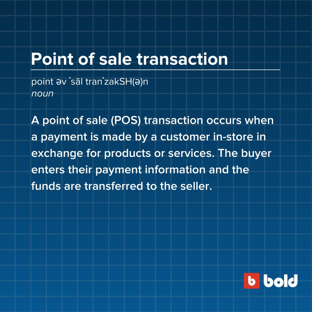 POS transaction