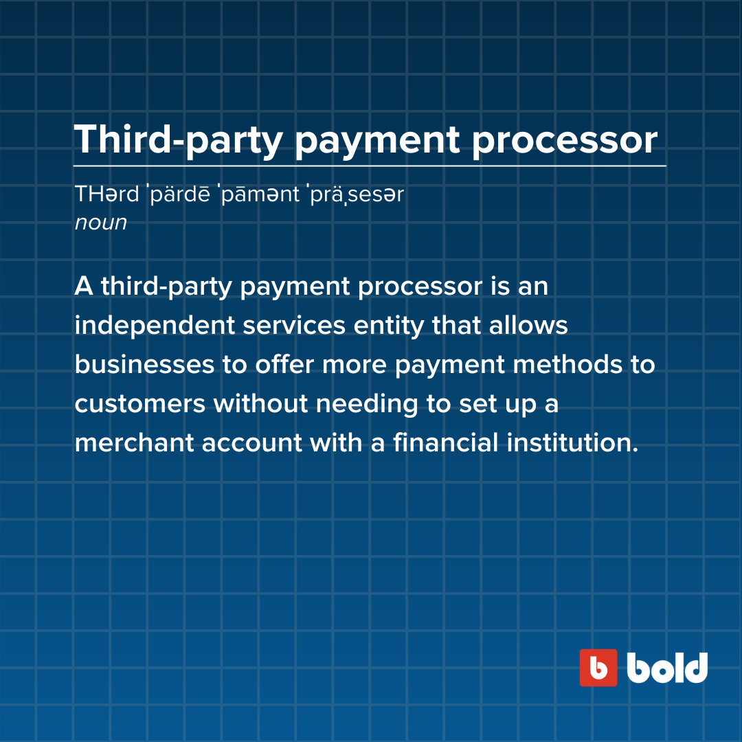Third-party payment processor