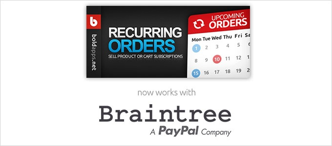 Shopify Subscriptions with Braintree