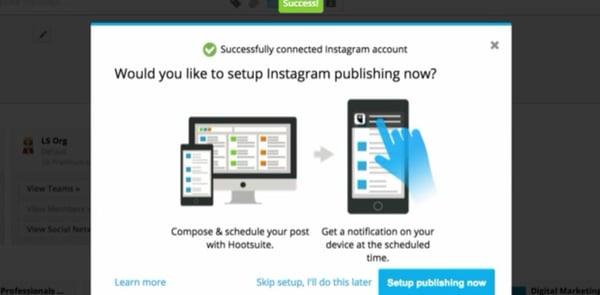 Instagram Publishing Hootsuite