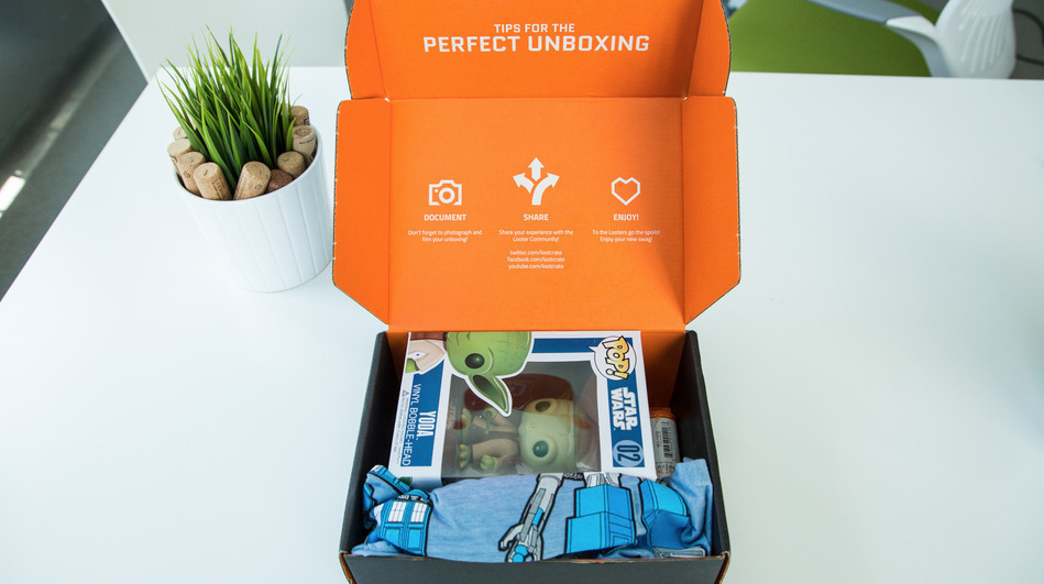 Image of Loot Crate's Star Wars package perfect unboxing