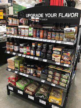 Slawsa in the grilling section of Lowe's Home Improvement