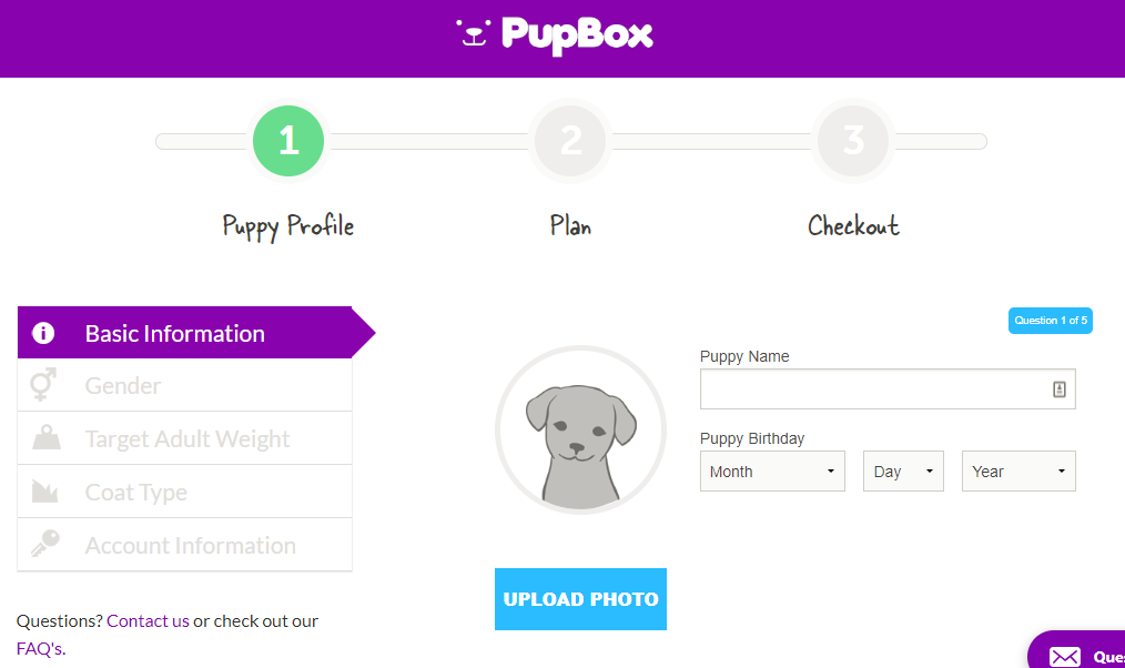 PupBox Shopify subscription box