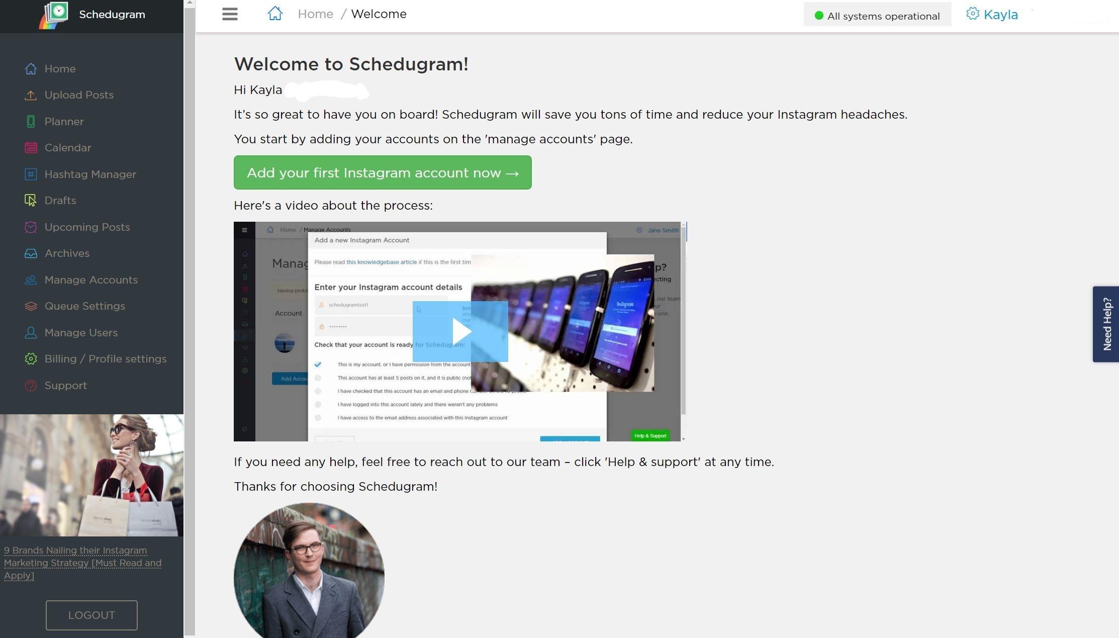 Schedugram page