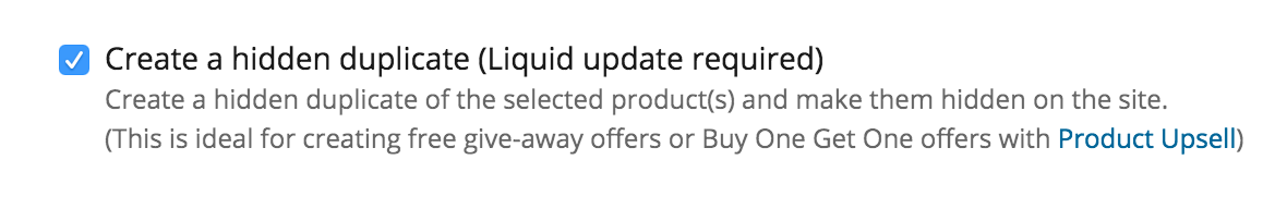 Make sure the hidden duplicate checkbox is enabled