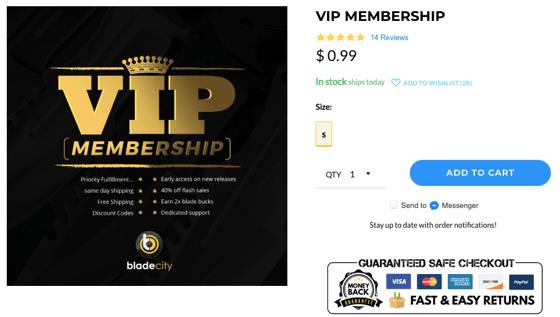 VIP subscriptions