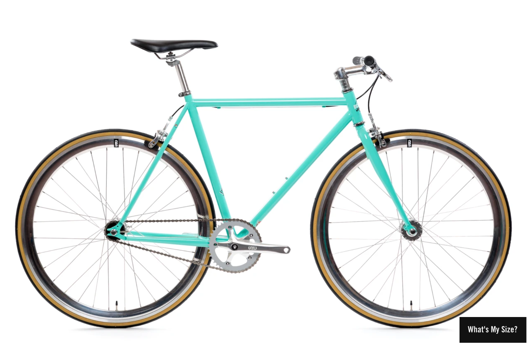 Image of teal colored bicycle