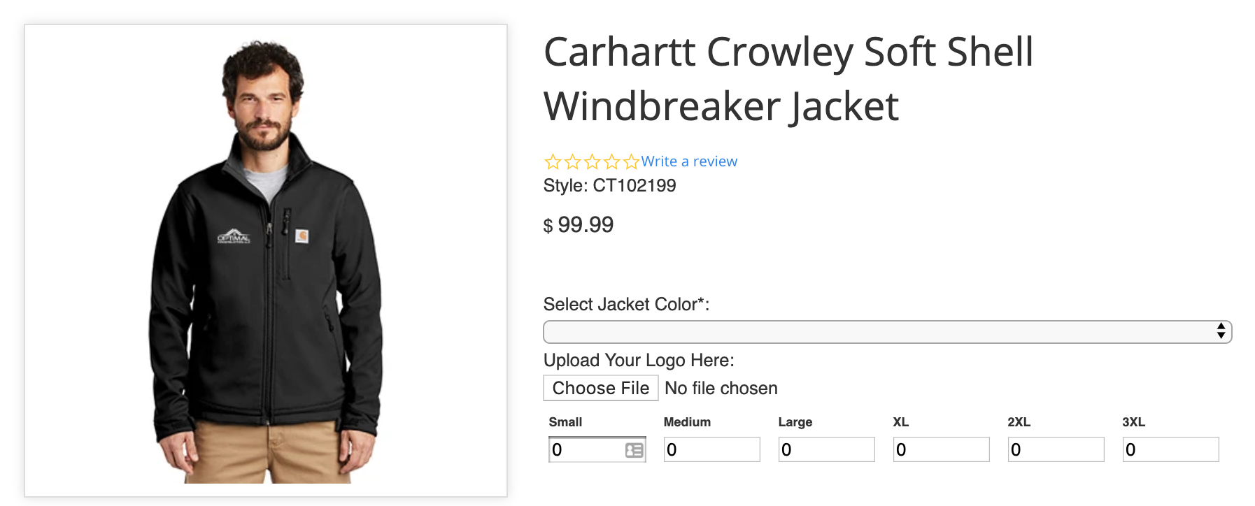 Image of Carhartt windbreaker jacket