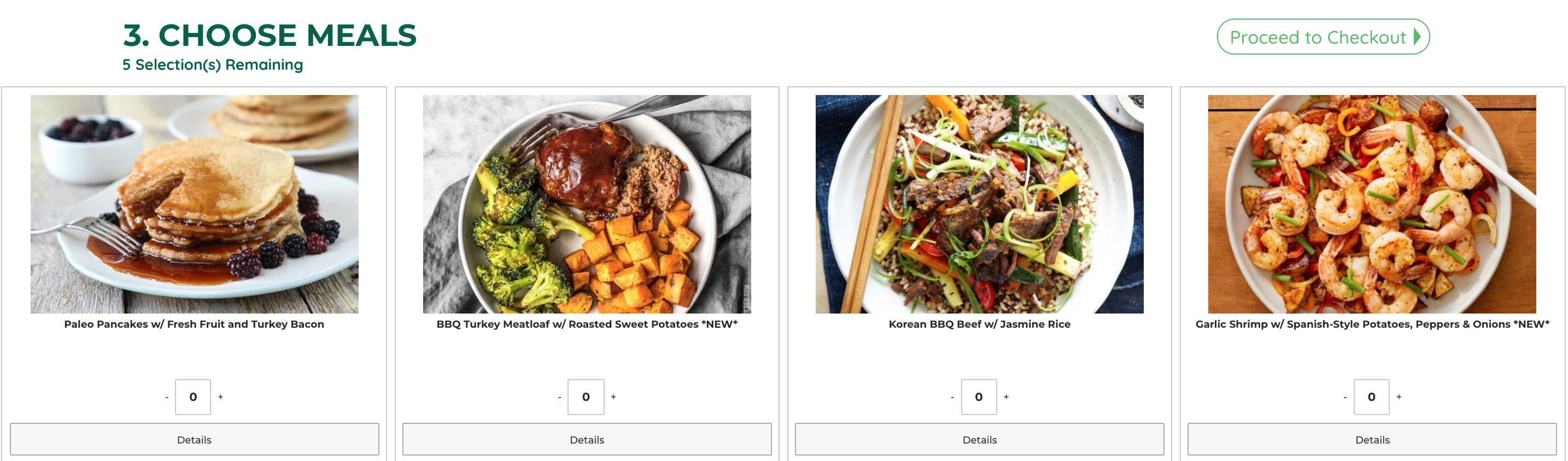 Four images of Paleo food options