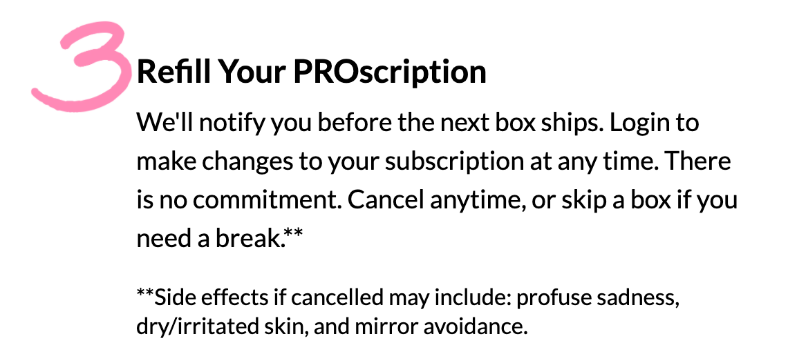 Reminder to refill your Proscription