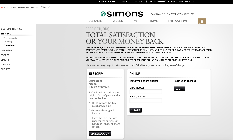 Simons Returns