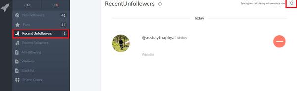 Unfollowers Crowdfire