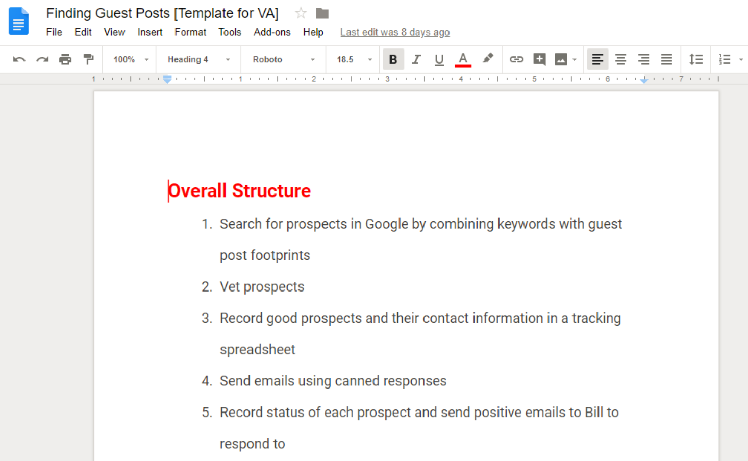 Google Docs Tool for eCommerce Businesses