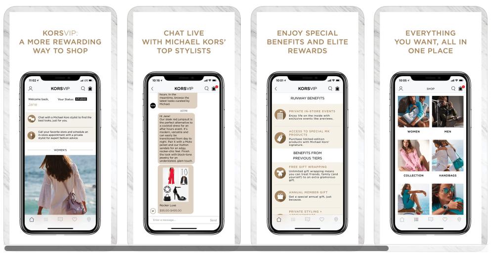 VIPKORS mobile loyalty program example