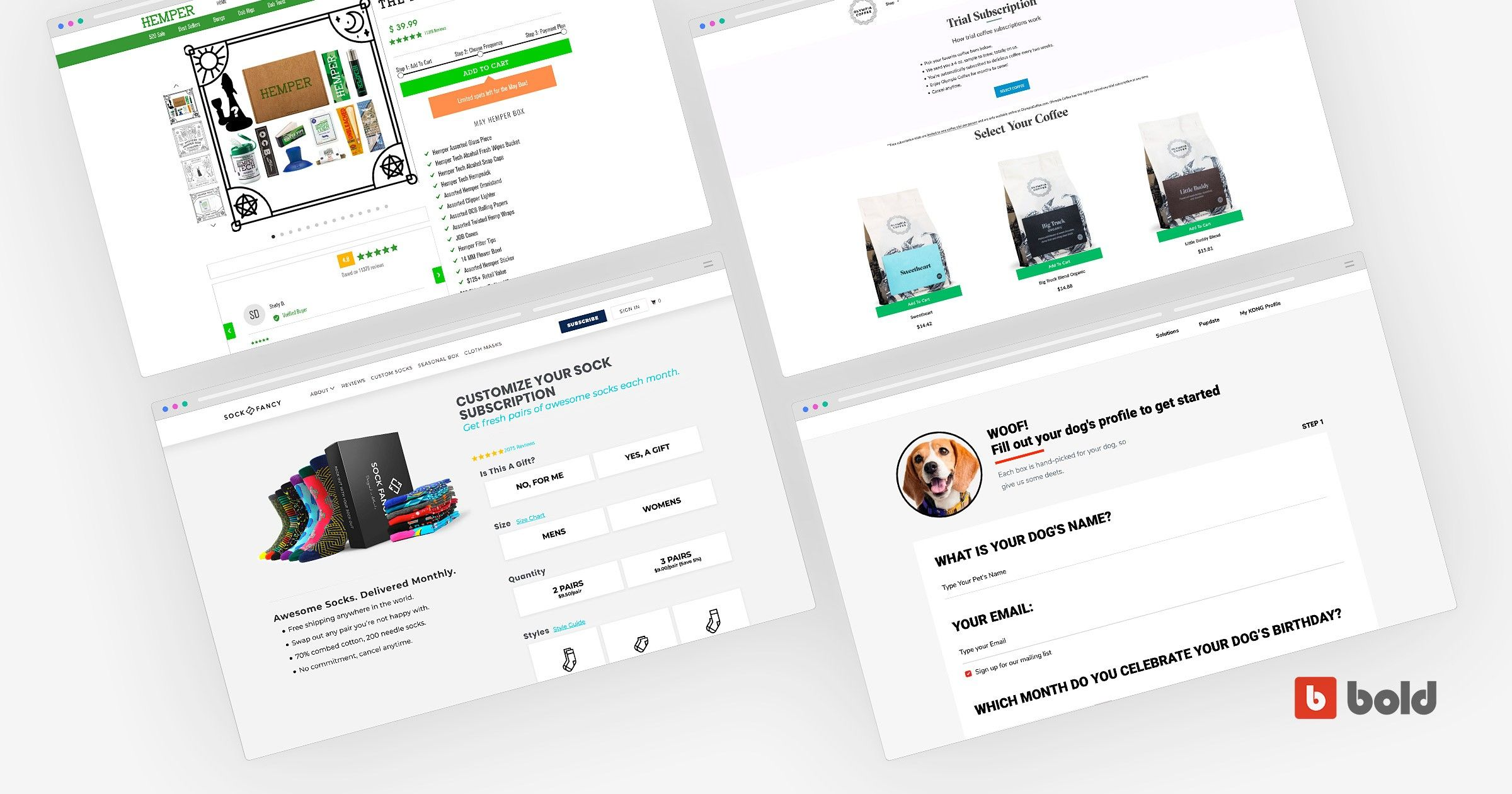 Blog banner with subscriptions onboarding examples