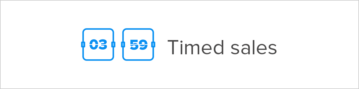 Timed sales Shopify discount app