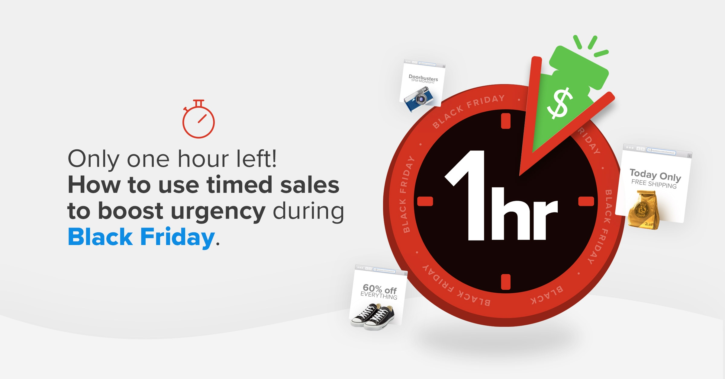 Use timed sales to boost urgency