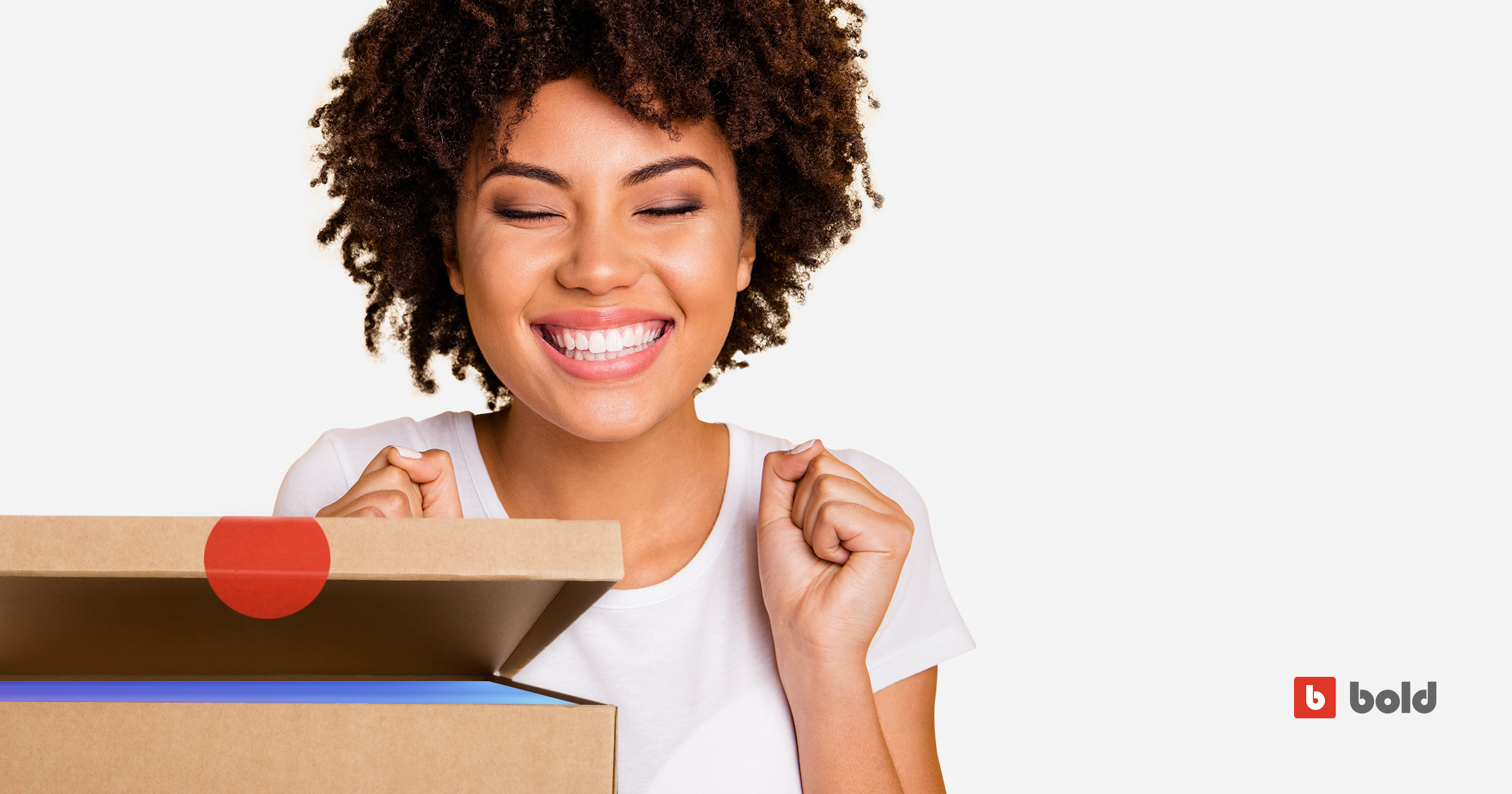 Picture of woman having an unforgettable unboxing experience