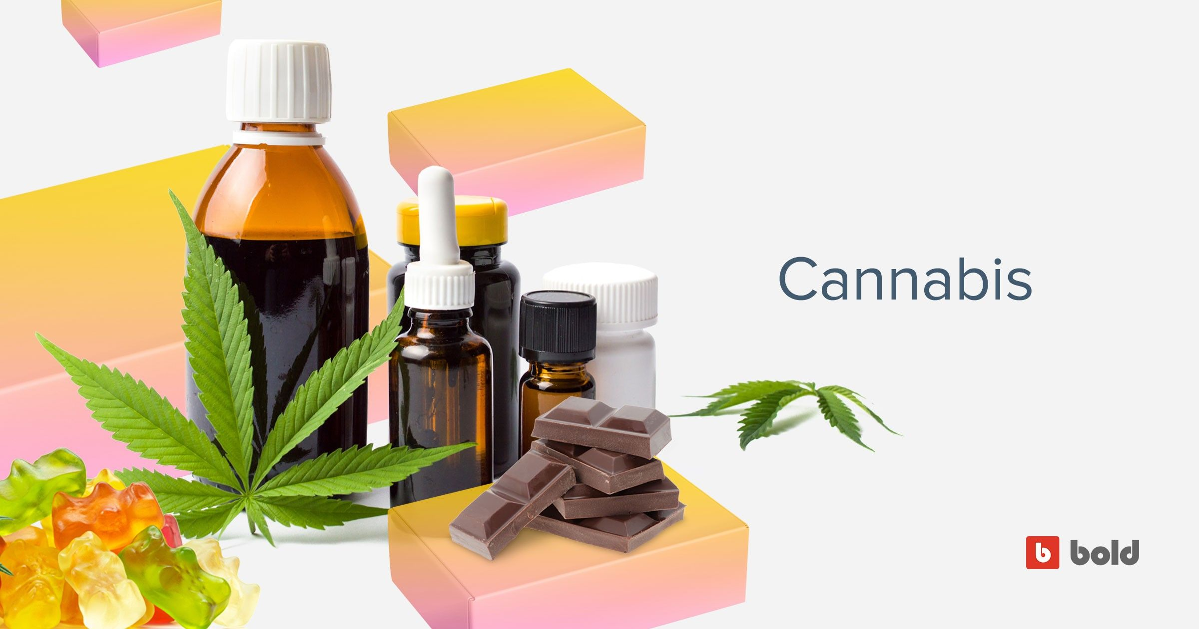 Blog banner showing cannabis products