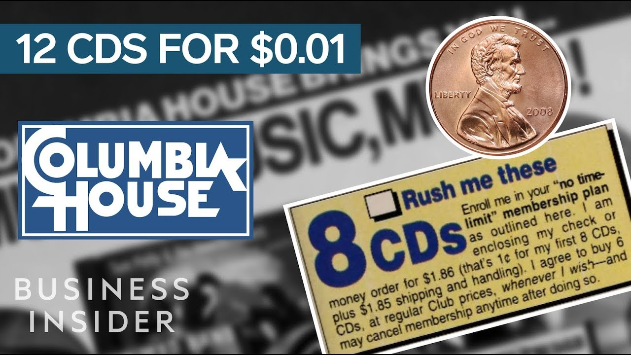 Ad from 90s Columbia House CD promotion