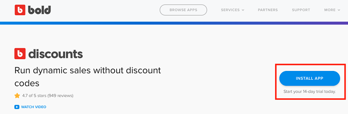 discounts install button 2019