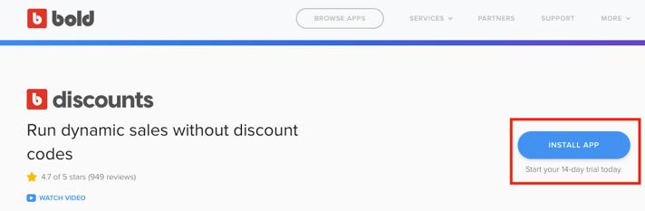 discounts install button 2019