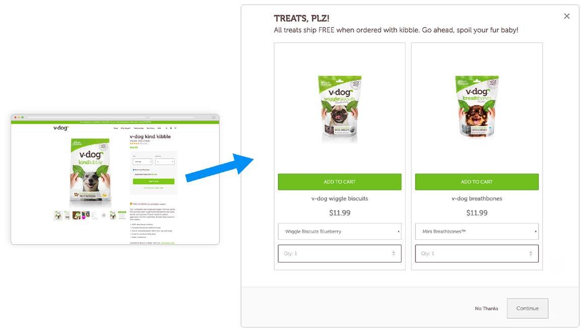 v-dog cross-sell