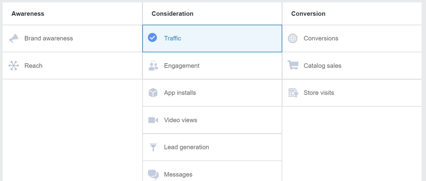 22 - facebook ad campaign objectives