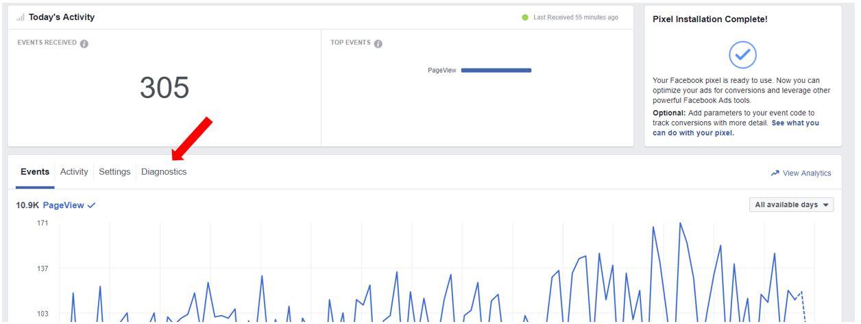 Facebook Diagnostics Menu