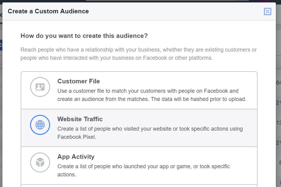 Facebook custom audience pixel