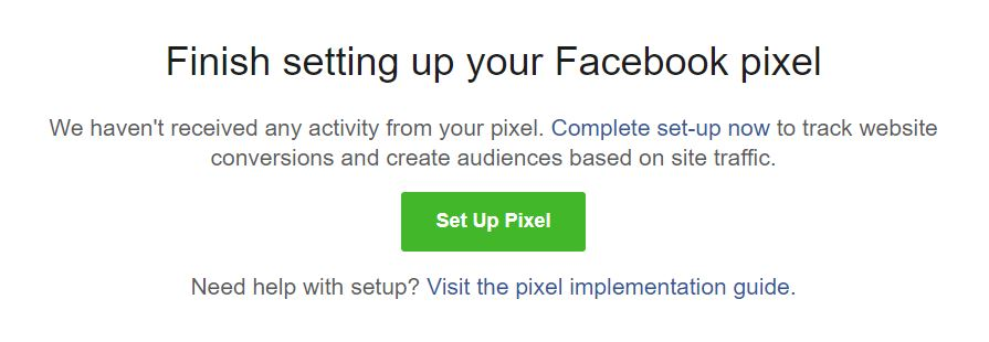 Finish setting up your Facebook pixel