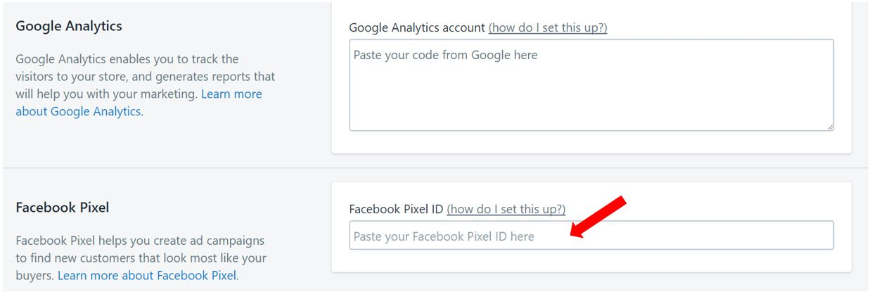 Where to put your Facebook Pixel ID on Shopify