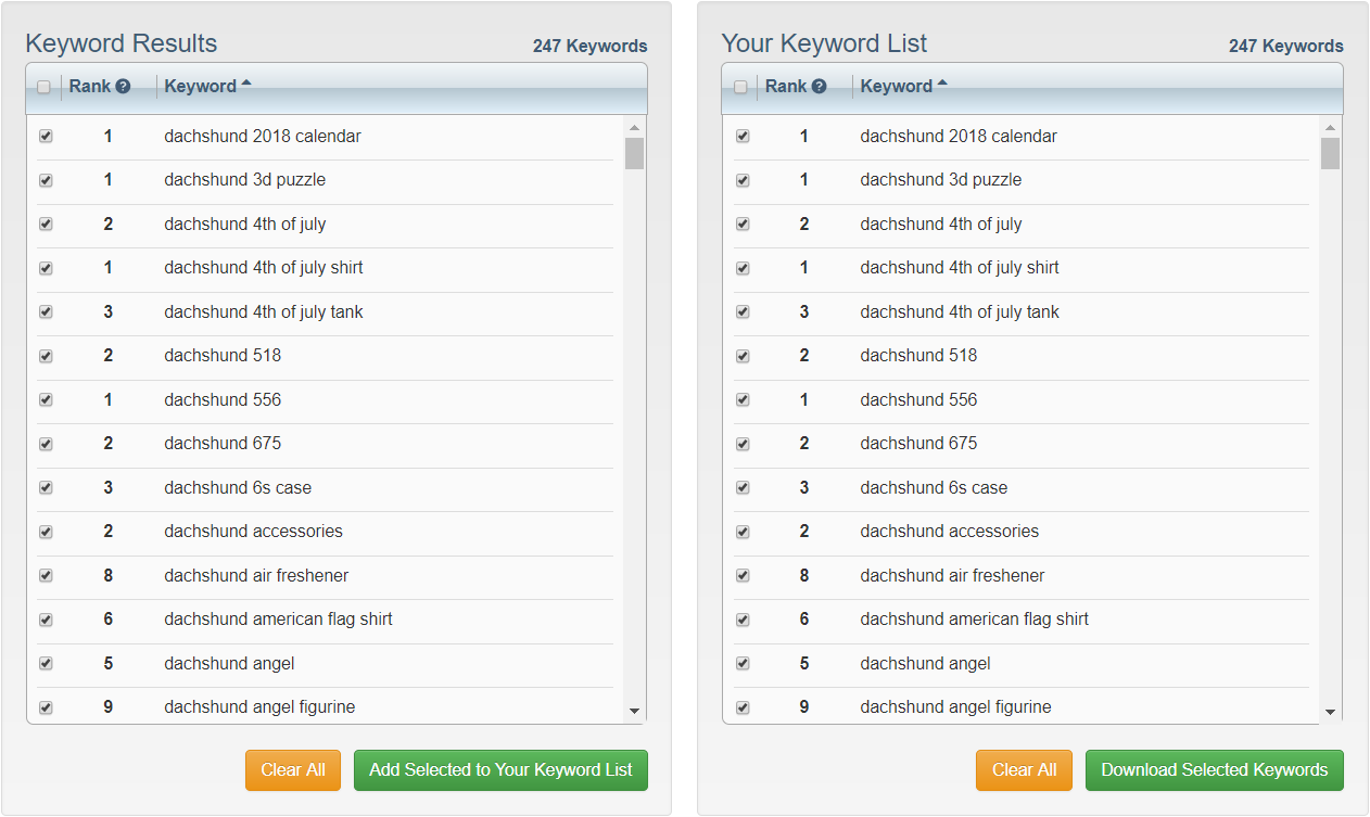 Amazon Keyword Tool