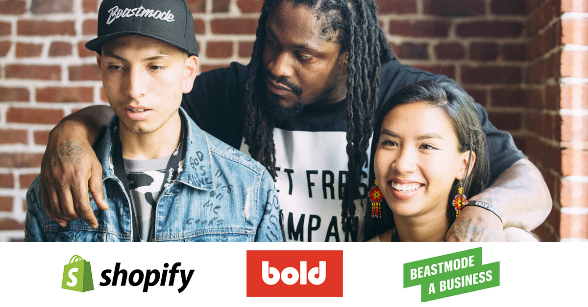 Marshawn Lynch, Shopify & Bold team up to help young entrepreneurs launch their businesses