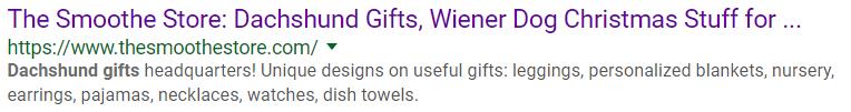 Google listing metadata