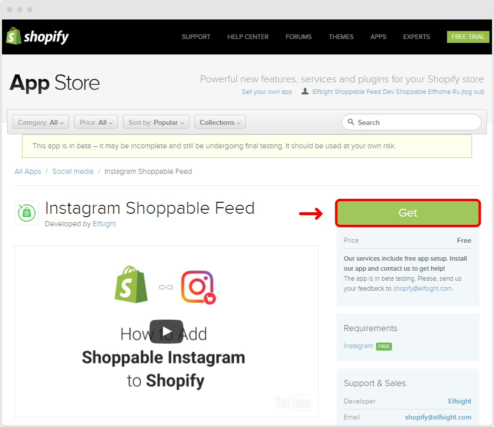 Instagram shoppable feed get