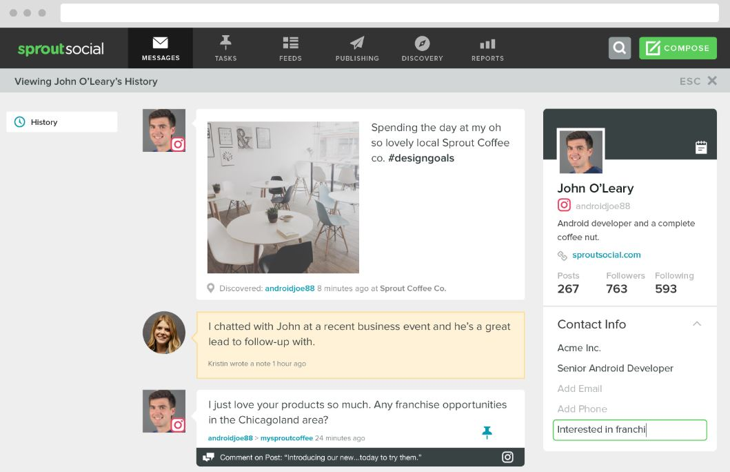 Stay in touch Sprout Social