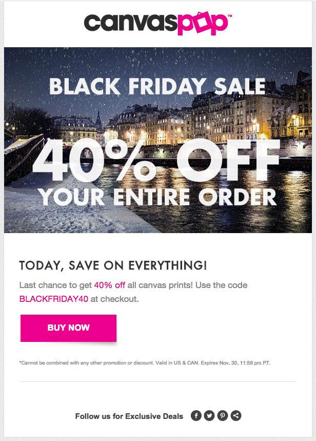 Black Friday Sales Email