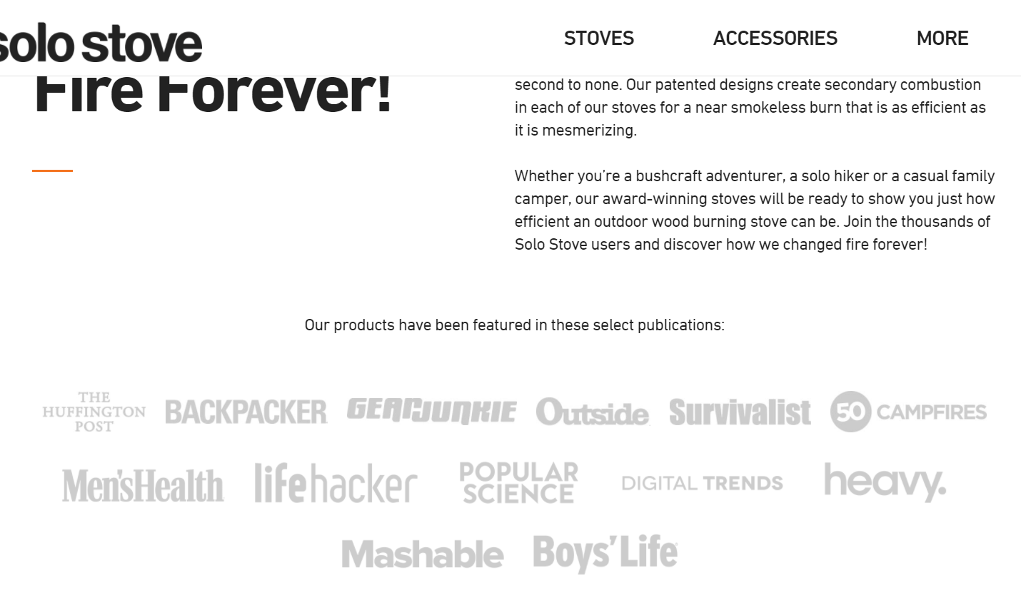 ecommerce store featured page