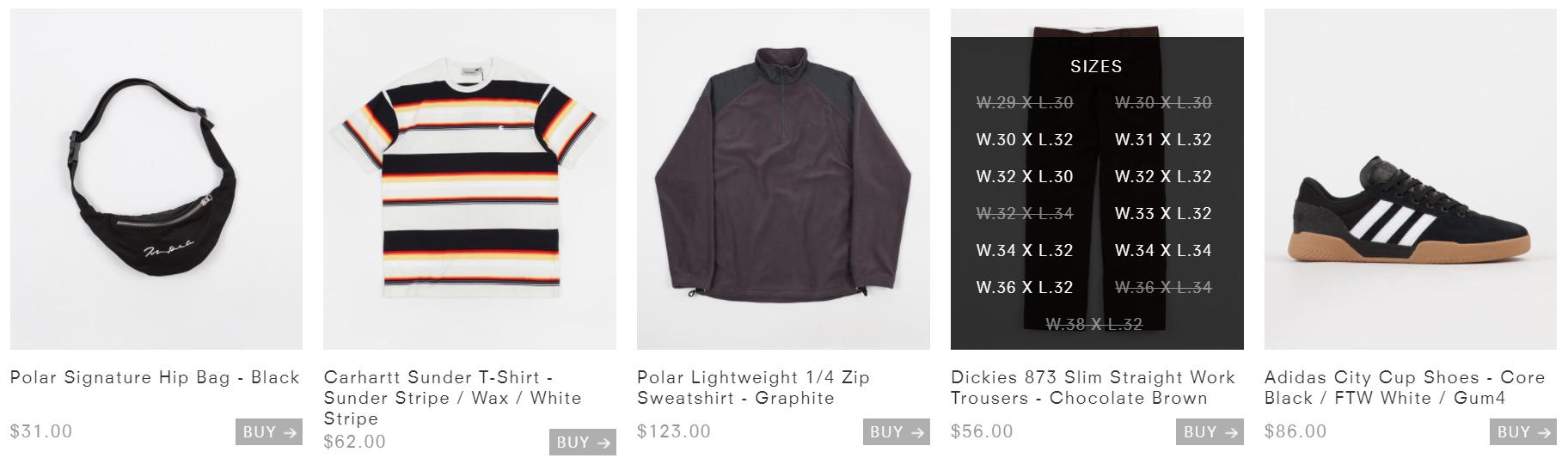 shopify store sizing indicator