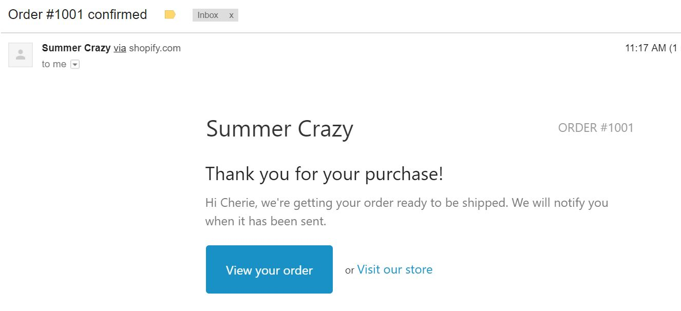 shopify-order-confirmation-email